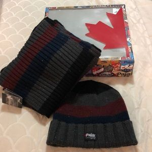 New*Pajar wool blend scarf and hat winter set